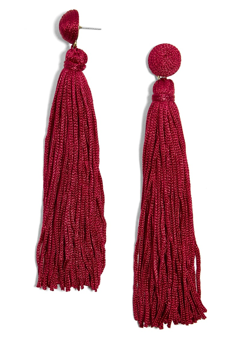 BaubleBar Valencia Shoulder Duster Tassel Earrings