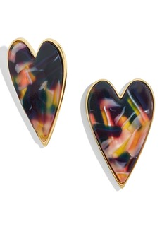 BaubleBar Valentina Heart Stud Earrings