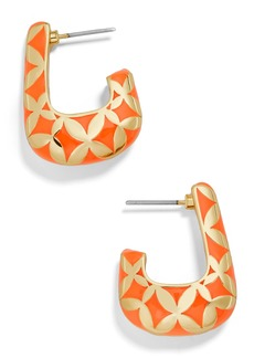 BaubleBar Varinia Boxy Hoop Earrings