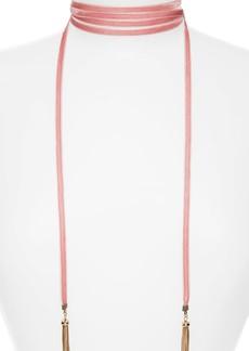 Baublebar Velvet Lariat Choker Necklace