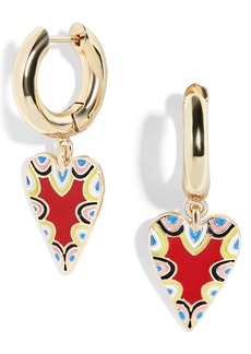 BaubleBar Vida Heart Huggie Earrings