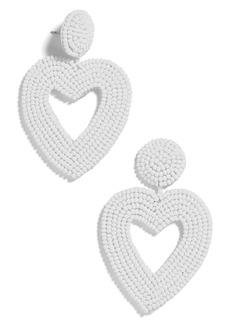 BaubleBar Vionnet Beaded Heart Drop Earrings
