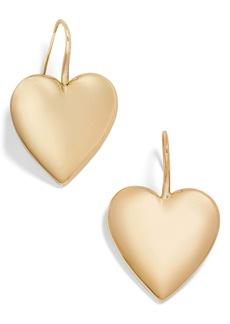 BaubleBar Viviane Heart Drop Earrings