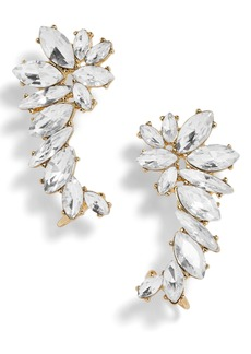 BaubleBar Winged Crystal Ear Crawlers