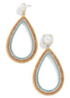 BaubleBar x Micaela Erlanger Ladies Who Lunch Teardrop Earrings