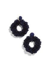 BaubleBar Camellia Flower Hoop Earrings