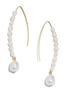 BaubleBar Caspian 3-9mm Freshwater Pearl Drop Earrings