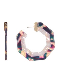 BaubleBar Deidre Geo 57mm Hoop Earrings