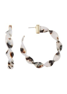 BaubleBar x Micaela Erlanger Weekend Warrior Resin Hoop Earrings