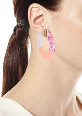 BaubleBar Dessa Resin Hoop Earrings