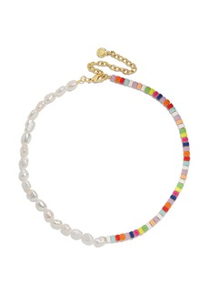 BaubleBar Ellie Pearl & Bead Necklace