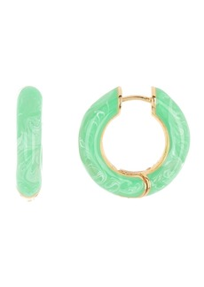 BaubleBar Enamel Swirl Huggie Hoop Earrings