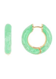 BaubleBar Enamel Swirl Huggie Hoop Earrings