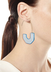 BaubleBar Faina Lucite Hoop Earrings