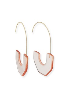 BaubleBar Faina Lucite Hoop Earrings