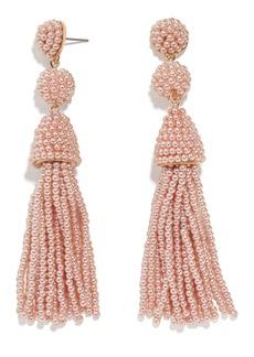 BaubleBar Granita Imitation Pearl Tassel Drop Earrings