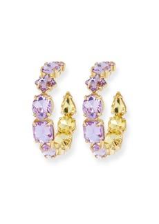 BaubleBar Isadora Crystal Hoop Earrings