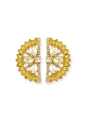 BaubleBar Lemon Crystal Stud Earrings