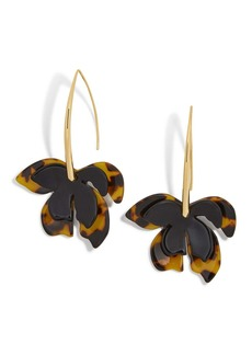BaubleBar Orchid Resin Drop Earrings