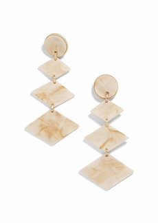 BaubleBar Shanti Resin Drop Earrings  Off-White