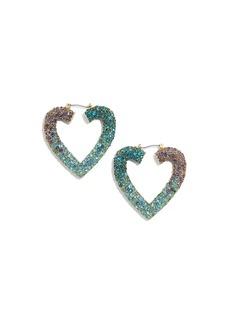 BaubleBar Spectrum Heart Earrings