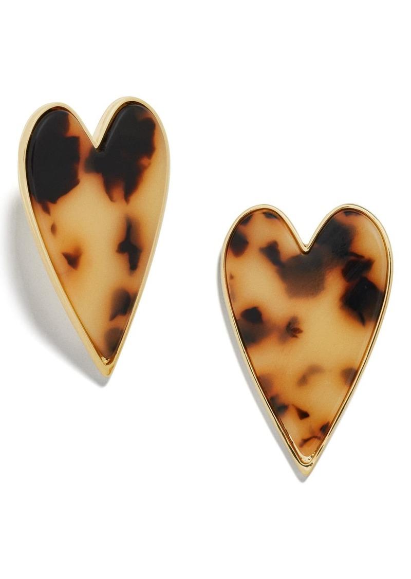 BaubleBar Valentina Heart Shape Stud Earrings