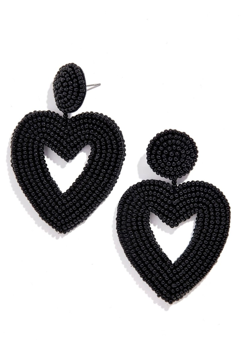 BaubleBar Vionnet Beaded Heart Drop Earrings