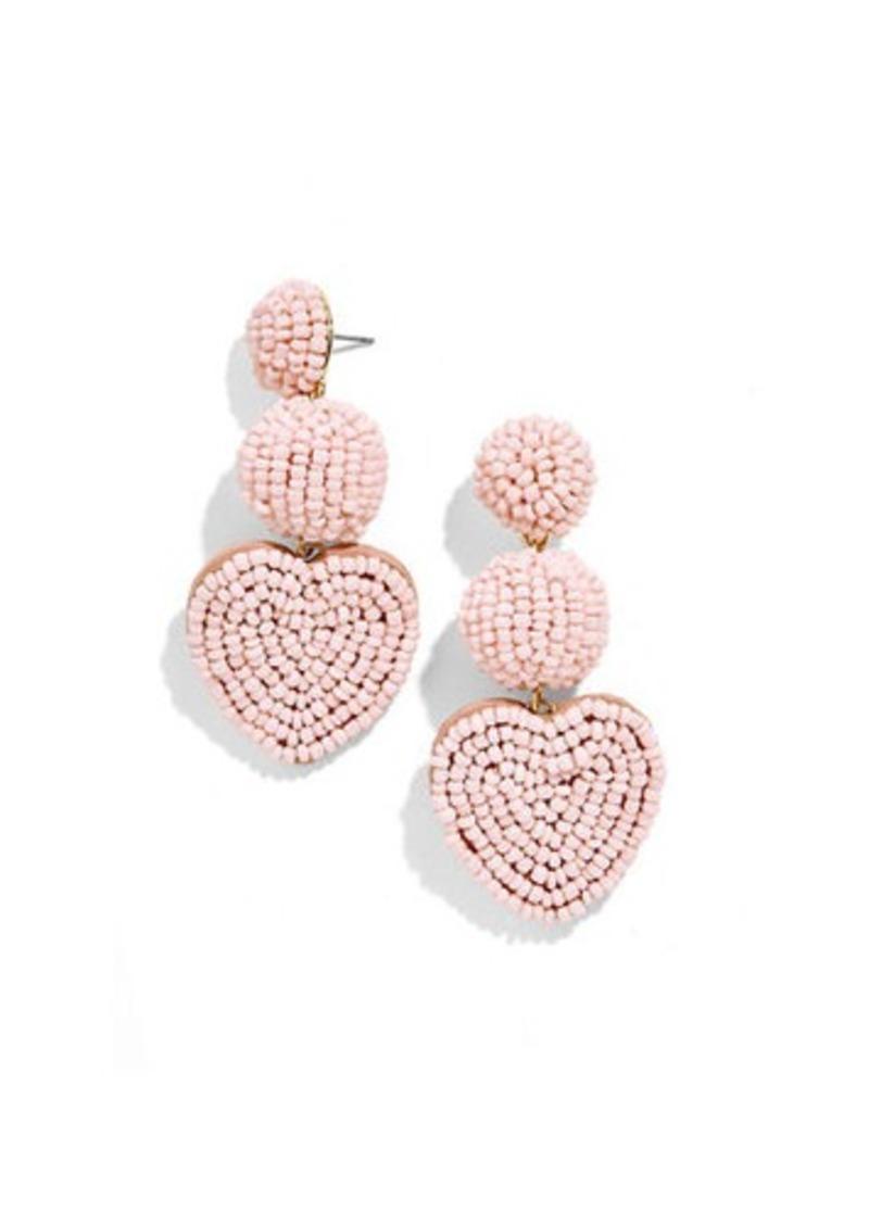 BaubleBar Vitina Beaded Heart Drop Earrings