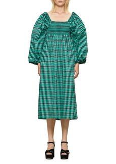 Baum und Pferdgarten Aquina Check Print Long Sleeve Dress