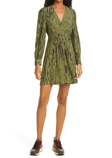 Baum und Pferdgarten Astrella Woodcut Print Long Sleeve Fit & Flare Dress
