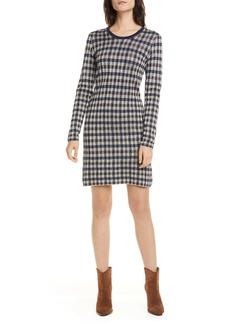 Baum und Pferdgarten Cabana Metallic Houndstooth Check Long Sleeve Sweater Dress