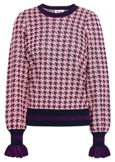 Baum Und Pferdgarten Woman Houndstooth Jacquard-knit Top Pink