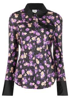 Baum und Pferdgarten floral print silk shirt