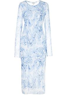 Baum und Pferdgarten marble-print bodycon midi dress