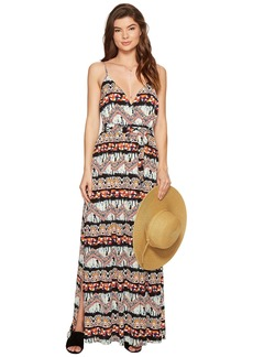 "BB Dakota Agnes ""Artisan Wave"" Printed Poly Crepe Maxi Dress"