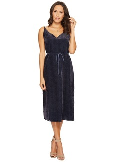 BB Dakota Alayna Burnout Velvet Midi Dress