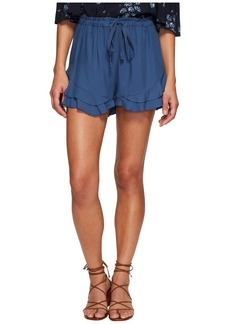 BB Dakota Alder Rayon Twill Double Ruffle Hem Shorts