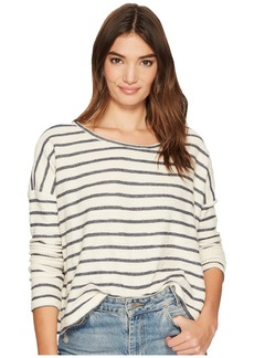BB Dakota Allyson Striped French Terry Drop Shoulder Top
