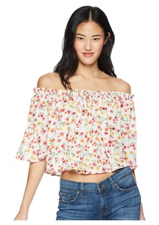 "BB Dakota Ayla ""Wild Poppies"" Printed Off the Shoulder Top"