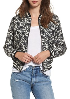 BB Dakota Addie Floral Brocade Bomber Jacket