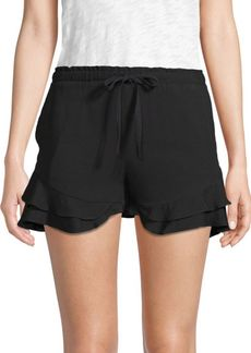 BB Dakota Aldeen Ruffle-Trimmed Shorts