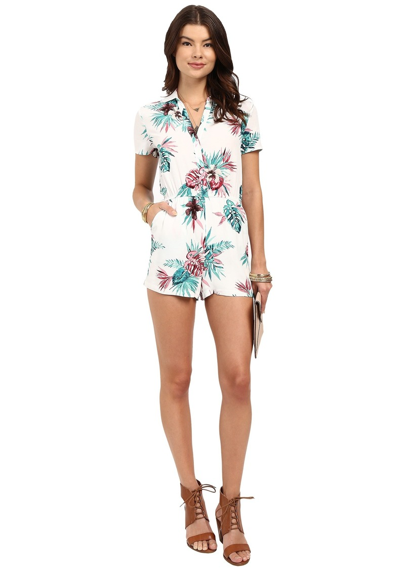 BB Dakota Aleena Orchid Jungle Printd Hammered Crepe Romper