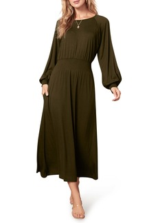 BB Dakota by Steve Madden All Day Everyday Long Sleeve Midi Dress
