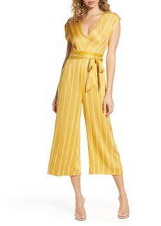 BB Dakota All the Right Moves Printed Wide Leg Jumpsuit