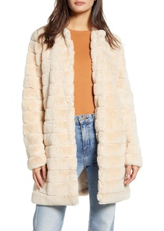 BB Dakota Anything For You Quilted Faux Fur Coat