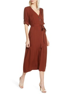 BB Dakota Asymmetrical Button Front Shirtdress
