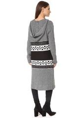 BB Dakota Bakers Pattern Poncho Sweater