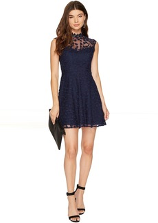BB Dakota Becky High Neck Lace Dress