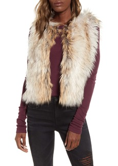 BB Dakota Bedrock City Faux Fur Vest