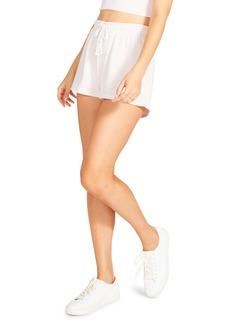 BB Dakota Believe the Stripe Drawstring Shorts